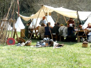 lunchtime at a mediaeval renenactment