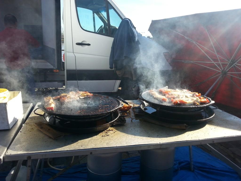 squid kebabs