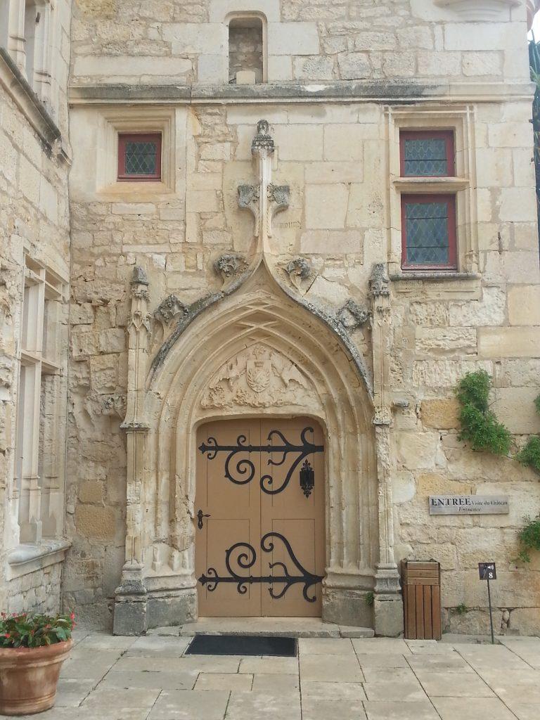 Château des Milandes front door.