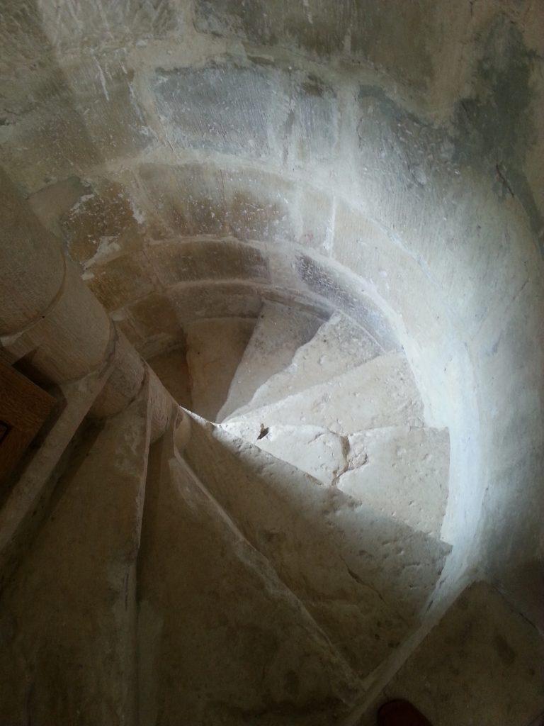 Milandes spiral staircase